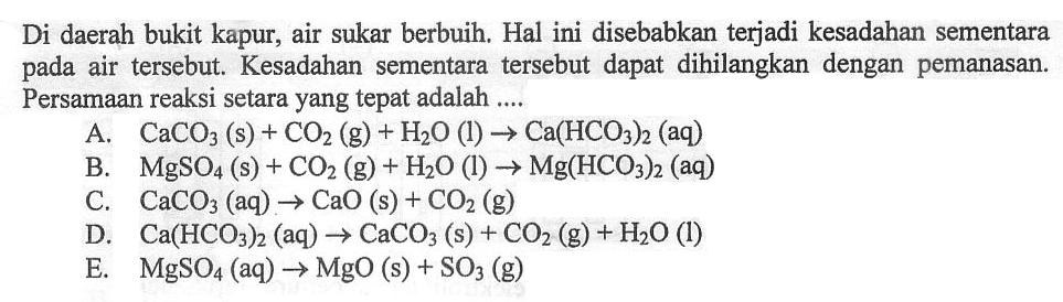 10 Contoh Soal Persamaan Reaksi Pilihan Ganda Dan Jawabannya Materi Kimia
