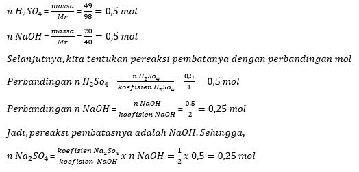 5 Contoh Soal Pereaksi Pembatas Dan Pembahasannya Materi Kimia