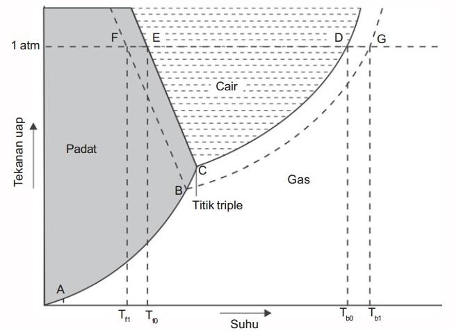 Gambar diagram pt kenaikan titik didih dan penurunan titik beku dan gambar diagram p t ccuart Images